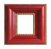 Square antique picture frame.