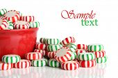 Old fashioned peppermint Christmas candy.