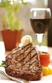 Rib-eye Steak With Wine