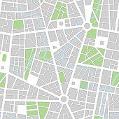 City map. Seamless vector wallpaper. All elements and colors easy for select and change on separated layers