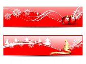 set of two website  headers & banners of Christmas in red background