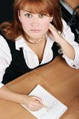 Businesswoman Pain, Stress In Office
