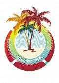 Постер, плакат: Рама пальмы
