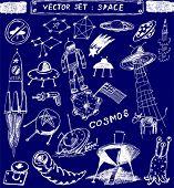 vector set : space doodle