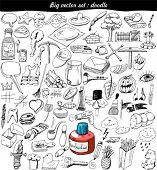 big vector set : doodle