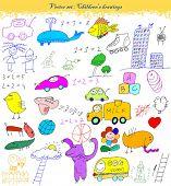 vector set : Children's drawings