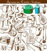 vector gran juego: doodle - cocina