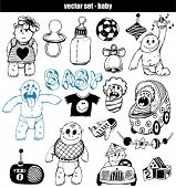 vector set - doodles - baby