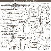 doodle vintage set