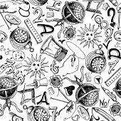 Seamless pattern - Science