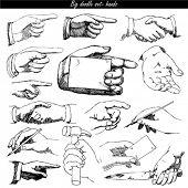 doodle set - hands