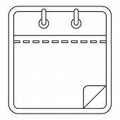 Blank Calendar Icon. Outline Illustration Of Blank Calendar  Icon For Web poster