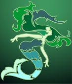 Mermaid in the Emerald Sea