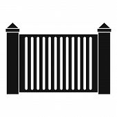 Steel Fence Icon. Simple Illustration Of Steel Fence  Icon For Web. poster