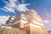 Himeji Castle World Heritage Historic Landmark, Kyoto Japan Landmark poster