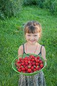 The Little Girl With Strawberries