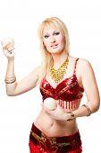 Blonde Woman Bellydancer
