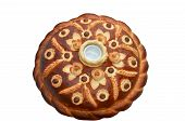 tradition wedding bread with saltcellar on the top
