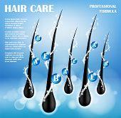 Cosmetic Ads Template. Hair Nourishing Protect Shampoo Design. Hair Care Shampoo For Health. Shampoo poster