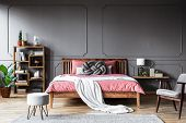 Grey And Pink Cozy Bedroom poster