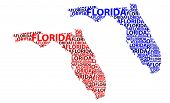 Sketch Florida (united States Of America, The Sunshine State) Letter Text Map, Florida Map - In The  poster