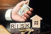 The Concept Of Risk Of Investing Money. Security Of Property Rights. Protection Of Investments And D poster