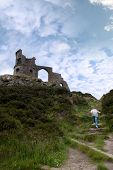 Girl Climbing To Mow Cop Castle