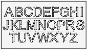 Tech Vector Font Typeface Unique Design. For Technology, Circuits, Engineering, Digital , Gaming, Sc poster