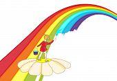 A Child Paints A Rainbow
