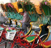 Traditional Bicycle Rickshaws