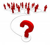 Question Mark Linked To People Network
