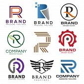 Creative Letter R Logo,best Letter R Logo Design Set,  Abstract Business Logo Design Template, Moder poster