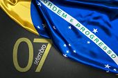 September 7, Brazil Independence Day (Writing in Portuguese) poster
