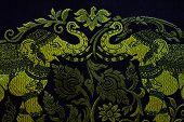 Hand Woven Fabrics In Thai Pattern Designs