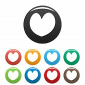 Reliable Heart Icon. Simple Illustration Of Reliable Heart Icons Set Color Isolated On White poster