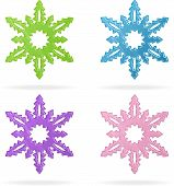 Set of snowflakes, isolated icons