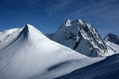 Mountain Ski Resort In The Mountains Of The Caucasus