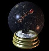 Flying Santa Snow Globe
