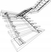 Abstract Design Of Stairs