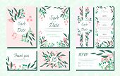 Floral Wedding Invite With Vector Eucalyptus Leaves, Forest Herbs, Elegant Decorative Flowers. Vinta poster