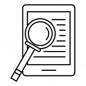 Device Search Icon. Outline Illustration Of Device Search Icon For Web Design Isolated On White Back poster