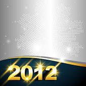 vector golden happy new year design with space for your text