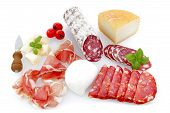 picture of charcuterie  - charcuterie and cheese platters on a white background - JPG