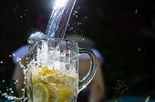Water Poured Onto Lemons