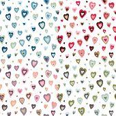 Seamless hearts fifties retro design pattern