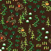 Seamless vegetable garden pattern