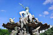 The Neptune ( Neptunbrunnen ) Fountain in Berlin