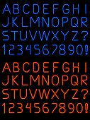 Neon Alphabet Font