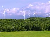 pic of wind energy  - Wind Farm in the mountains  - JPG