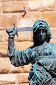 stock photo of beheaded  - Statue of Judith and Holofernes near Palazzo Vecchio - JPG